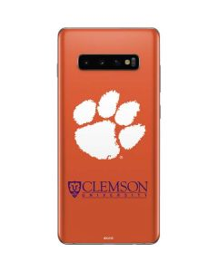 Clemson Paw Mark Galaxy S10 Plus Skin