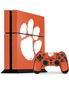 Clemson Paw Mark PS4 Console and Controller Bundle Skin