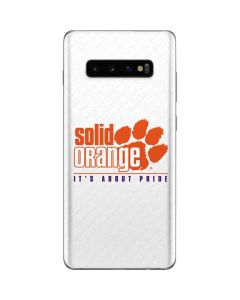 Clemson Solid Orange Its About Pride Galaxy S10 Plus Skin