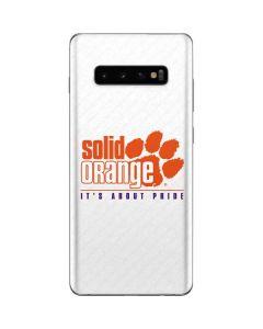 Clemson Solid Orange Its About Pride Galaxy S10 Plus Skin