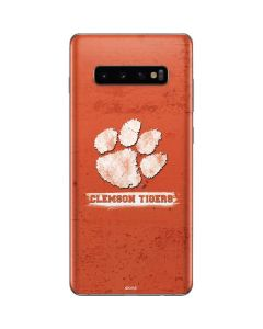 Clemson Tigers Vintage Galaxy S10 Plus Skin