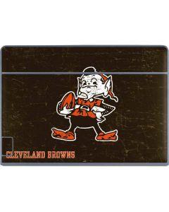 Cleveland Browns Alternate Distressed Galaxy Book Keyboard Folio 12in Skin