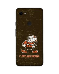 Cleveland Browns Alternate Distressed Google Pixel 3a Skin