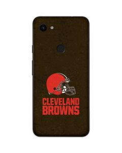 Cleveland Browns Distressed Google Pixel 3a Skin