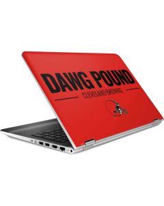Cleveland Browns Team Motto HP Pavilion Skin