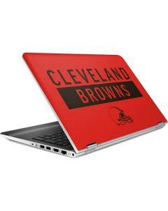 Cleveland Browns Orange Performance Series HP Pavilion Skin