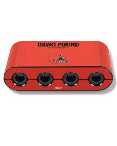 Cleveland Browns Team Motto Nintendo GameCube Controller Adapter Skin