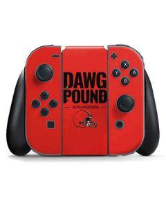 Cleveland Browns Team Motto Nintendo Switch Joy Con Controller Skin