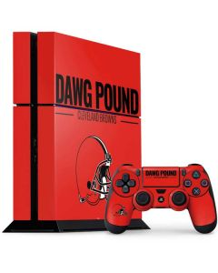 Cleveland Browns Team Motto PS4 Console and Controller Bundle Skin