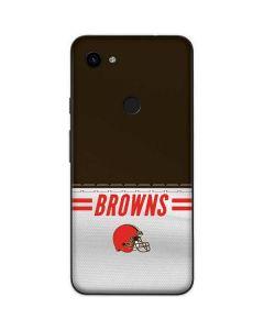 Cleveland Browns White Striped Google Pixel 3a Skin