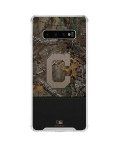 Cleveland Indians Realtree Xtra Camo Galaxy S10 Plus Clear Case