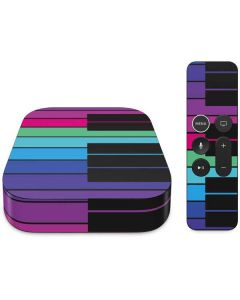 Color Piano Keys Apple TV Skin
