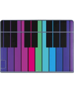 Color Piano Keys Galaxy Book Keyboard Folio 12in Skin