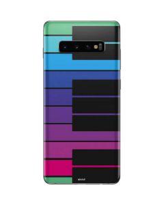 Color Piano Keys Galaxy S10 Plus Skin