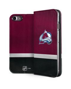 Colorado Avalanche Jersey iPhone 8 Folio Case