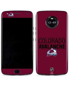 Colorado Avalanche Lineup Moto X4 Skin