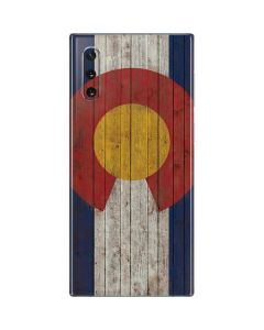 Colorado Flag Dark Wood Galaxy Note 10 Skin