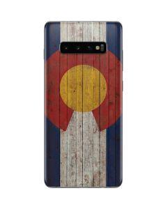 Colorado Flag Dark Wood Galaxy S10 Plus Skin