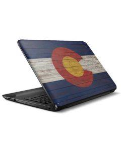 Colorado Flag Dark Wood HP Notebook Skin