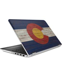 Colorado Flag Dark Wood HP Pavilion Skin