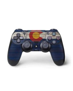 Colorado Flag Dark Wood PS4 Pro/Slim Controller Skin
