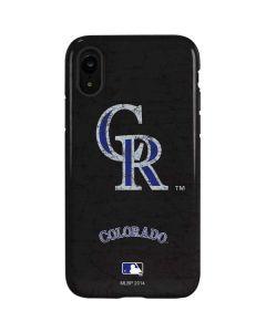 Colorado Rockies - Solid Distressed iPhone XR Pro Case