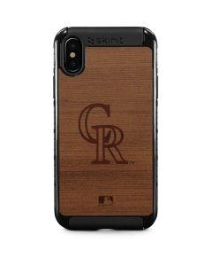 Colorado Rockies Engraved iPhone XS Cargo Case