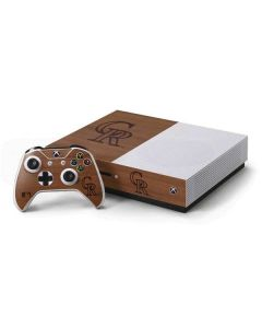 Colorado Rockies Engraved Xbox One S Console and Controller Bundle Skin