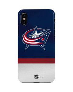 Columbus Blue Jackets Alternate Jersey iPhone XS Max Lite Case