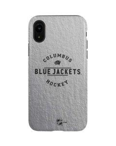 Columbus Blue Jackets Black Text iPhone XR Pro Case