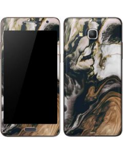 Copper and Black Marble Ink Galaxy Grand Prime Skin
