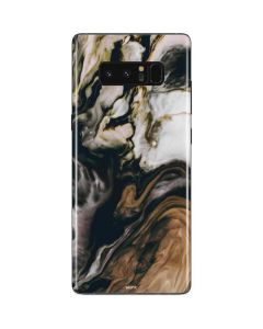 Copper and Black Marble Ink Galaxy Note 8 Skin