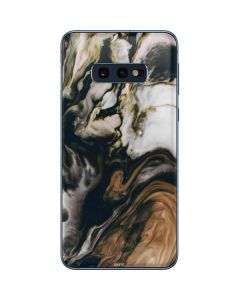 Copper and Black Marble Ink Galaxy S10e Skin