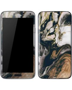 Copper and Black Marble Ink Galaxy S5 Skin