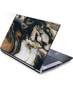 Copper and Black Marble Ink Generic Laptop Skin