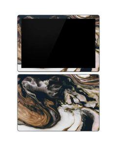 Copper and Black Marble Ink Google Pixel Slate Skin