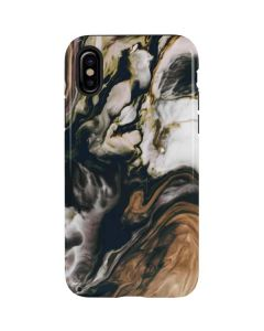 Copper and Black Marble Ink iPhone XS Max Pro Case