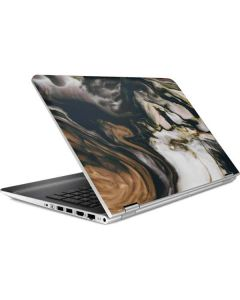Copper and Black Marble Ink HP Pavilion Skin