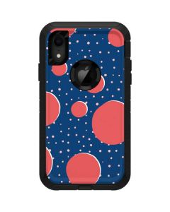 Coral Polka Dots Otterbox Defender iPhone Skin