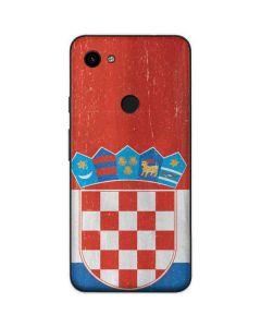 Croatia Flag Distressed Google Pixel 3a Skin