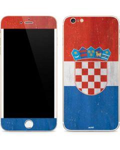 Croatia Flag Distressed iPhone 6/6s Plus Skin