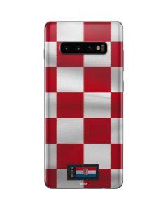 Croatia Soccer Flag Galaxy S10 Plus Skin