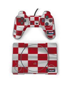 Croatia Soccer Flag PlayStation Classic Bundle Skin