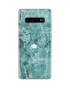Crushed Turquoise Galaxy S10 Plus Skin