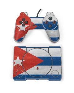 Cuban Flag Distressed PlayStation Classic Bundle Skin