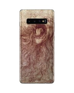 da Vinci - Sketch of a roaring lion Galaxy S10 Plus Skin