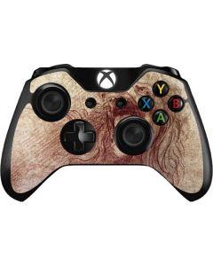 da Vinci - Sketch of a roaring lion Xbox One Controller Skin
