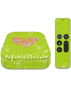 Daisy Heart Apple TV Skin
