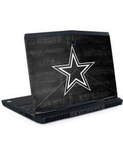 Dallas Cowboys Black & White Dell Alienware Skin