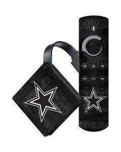 Dallas Cowboys Black & White Amazon Fire TV Skin
